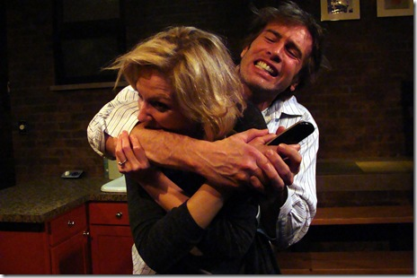 "Katherine Keberlein and Darrell W. Cox in Profile Theater's ""Fifty Words"", by Michael Weller.  (Photo: Wayne Karl)"