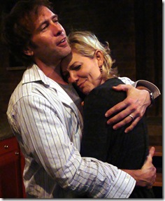 "Darrell W. Cox and Katherine Keberlein in Profile Theater's ""Fifty Words"", by Michael Weller.  (Photo: Wayne Karl)"