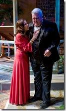 "Karen Janes Woditsch and John Lister in Writers' Theatre's ""Heartbreak House"" by George Bernard Shaw."