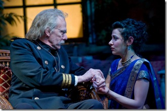 """John Reeger and Atra Asdou in Writers' Theatre's """"Heartbreak House"""" by George Bernard Shaw."""