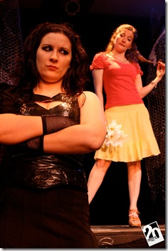 "Mindy Yourokos and Jackelyn Normand in 20% Theatre's ""Electra and Orestes"". Photo credit: Laura Oleska"