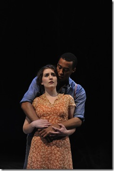 """Kelsey Brennan as Mary and Tyler Jacob Rollinson as Abe Smith in Charles Smith's """"The Gospel According to James. (photo: Liz Lauren)"""
