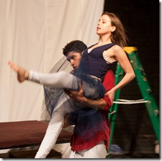 "Lauren Lopez, Blake Russell dance in ""War and Peace: A Dance Theater Short"" at Viaduct Theatre, adapted and choreographed by Jim Manganello"