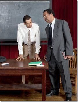 """A scene from Lincoln Square Theatre's """"A Lesson Before Dying"""", by Romulus Linney"""
