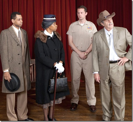 "The cast of Lincoln Square Theatre's ""A Lesson Before Dying"", by Romulus Linney"