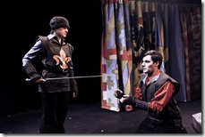"A scene from Strangeloop Theatre's production of ""The Maid of Orleans"" by Friedrich Schiller."