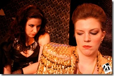 "Mindy Youroukos and Claire Yearman in 20% Theatre's ""Electra and Orestes"".  Photo credit: Linda Oleska"