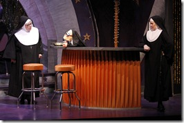 "Alene Robertson, Sister Mary Annette & Nicole Miller in Theatre at the Center's ""Nunset Boulevard"" by Dan Goggin."