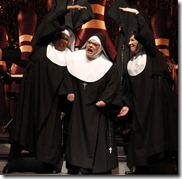 """Felicia Fields, Alene Robertson & Mary Robin Roth in Theatre at the Center's """"Nunset Boulevard"""" by Dan Goggin."""