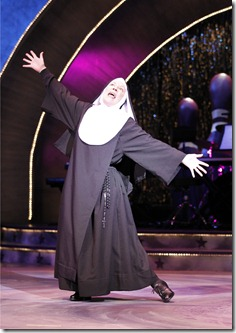 "Mary Robin Roth as Sister Robert Anne in Theatre at the Center's ""Nunset Boulevard"" by Dan Goggin."