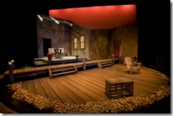 """The set of Northlight Theatre's """"The Outgoing Tide"""", designed by Brian Sidney Bembridge."""