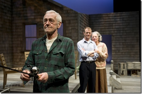 John Mahoney (Gunner), Thomas J. Cox (Jack) and Rondi Reed (Peg)