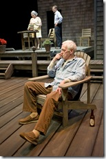 "John Mahoney (Gunner). Rondi Reed (Peg) and in the background Thomas J. Cox (Jack) in Northlight Theatre's ""The Outgoing Tide"" by Bruce Graham, directed by BJ Jones."
