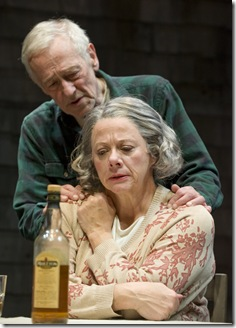 John Mahoney (Gunner) and Rondi Reed (Peg).