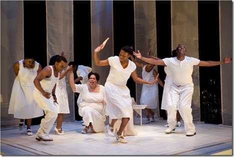 """The cast of Cort Theatre's """"Porgy and Bess"""", directed by Charles Newell. (Photo: Michael Brosilow)"""