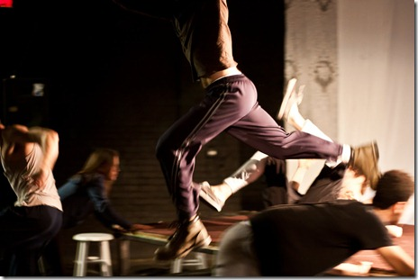 """Prologue to """"War and Peace: A Dance Theater Short"""" at Viaduct Theatre, adapted and choreographed by Jim Manganello"""