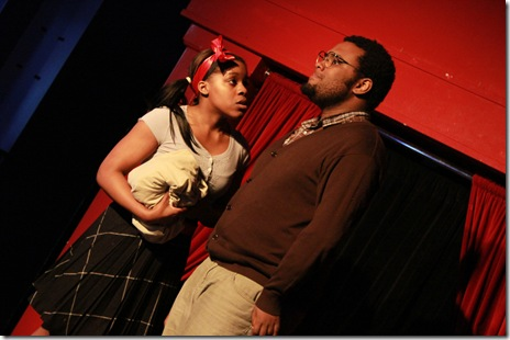 """A scene from Prologue Theatre's world-premier musical """"Ribbon Around a Bomb"""" by Jess Eisenberg Chamblee. Photo by Cole Simon."""