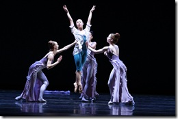 "Night featuring Anastacia Holden (center) in Joffrey Ballet's ""Rising Stars"""