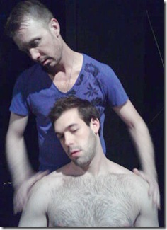 "Timothy Tintorini and Bob Skosky in Ludicrous Theatre's ""Sleeping with Straight Men"" by Ronnie Larsen."