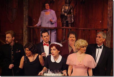 "The cast of Citadel Theatre's ""Something's Afoot"" - Kate Andrulis, Sarah Breidenbach, Christopher Davis, Ed Kuffert, Mario Mazzetti, Debra Criche Mell, Dennis Murphy, Gerald Nevin, Ellen Phelps and Andrew J. Pond"