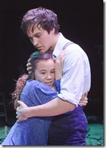 "Elizabeth Judd as Wendla and Christopher Wood as Melchior in the national tour of ""Spring Awakening"". Andy Snow ©2010"