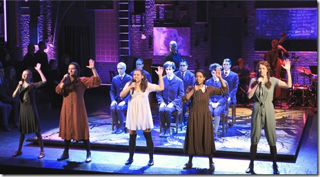"The cast of the national tour of ""Spring Awakening"". Photo credit: Andy Snow ©2010"
