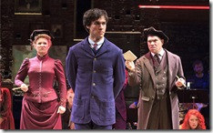 "Sarah Kleeman, Christopher Wood and Mark Poppleton in the national tour of ""Spring Awakening"". Photo credit: Andy Snow ©2010"