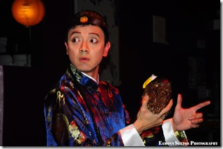"Tempura's Ugly Bird - scene in InnateVolution's production of ""Adrift in Macao"" at The Call. Photo credit: Eamonn Sexton Photography"