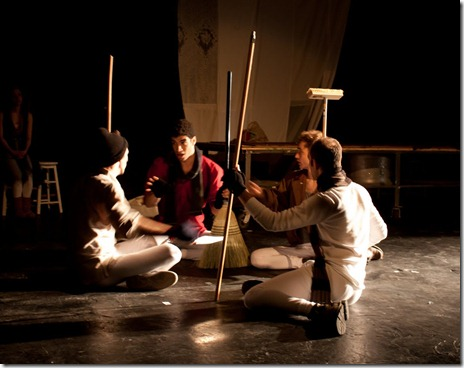 """The Atom Bomb scene in """"War and Peace: A Dance Theater Short"""" at Viaduct Theatre, adapted and choreographed by Jim Manganello"""
